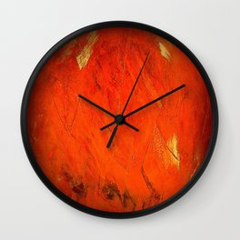 Italian Style Orange Stucco - Adobe Shadows Wall Clock