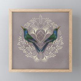 Endurance Crystal Grid in Mauve Framed Mini Art Print