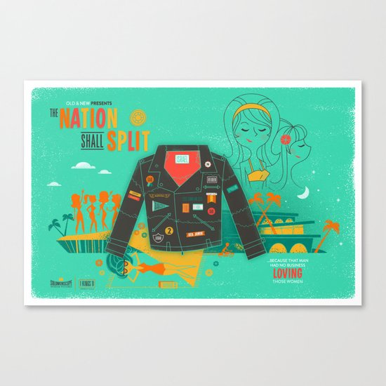 The Nation Shall Split Canvas Print