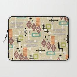 Retro Mid Century Modern Atomic Abstract Pattern 241 Laptop Sleeve