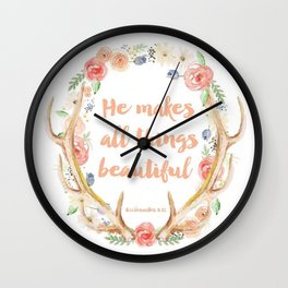 Proverb Wall Clock