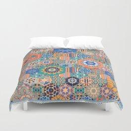 Hexagons Tiles (Colorful) Duvet Cover