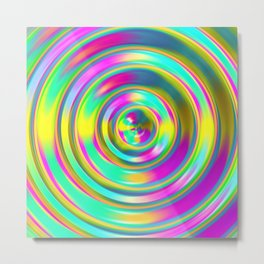 Pastel Swirl Metal Print