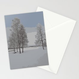 winter view from Lapland Stationery Cards
