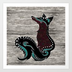 Bohemian Zorro Fox (left) Art Print