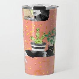 Cats & Plants #society6artprint ##cats #decor Travel Mug