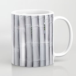 Abstract texture pattern background of white painted bamboo wall Coffee Mug