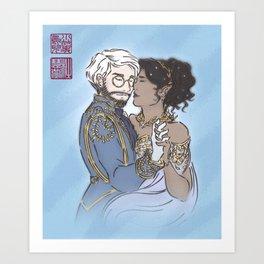 wedding of whitestone Art Print