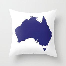Australia Silhouette Throw Pillow