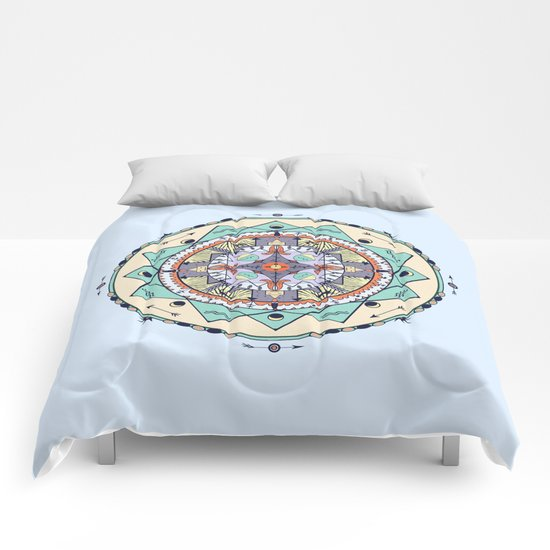 Time and Light Native Shapes Mandala Comforters