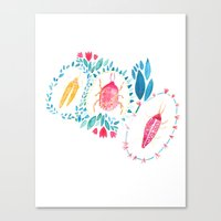 insects Canvas Prints featuring Insects by Mia Dunton
