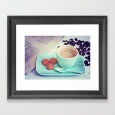 Espresso time Framed Art Print