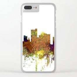 Lubbock, Texas Skyline - Safari Buff Clear iPhone Case