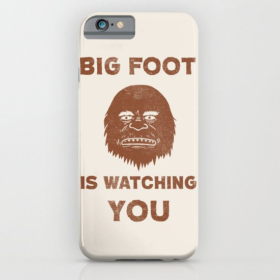 Big Foot Is Watching You iPhone & iPod Case
