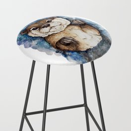 Watercolor Otter Bar Stool