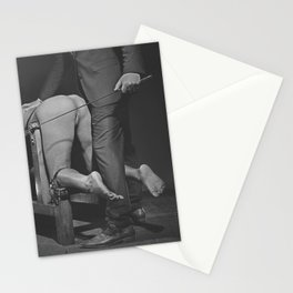Waiting for the Whip 2# Nude woman whipped Stationery Cards