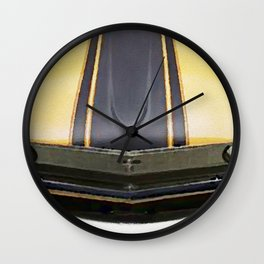 Vintage Ford Mustang in watercolor Wall Clock