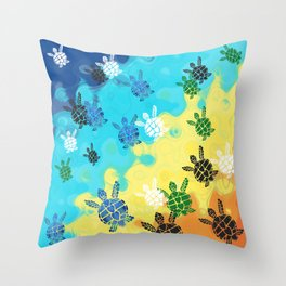 Back to the Ocean Throw Pillow