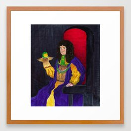 King Charles the Ventriloquist  Framed Art Print