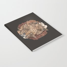 Flowers and Moths Notebook