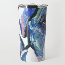 American Bulldog Pop Art by Lea Travel Mug