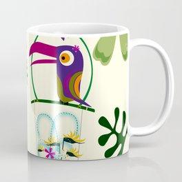 Vintage Modern Tiki Birds Coffee Mug