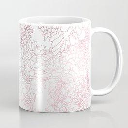 Elegant floral rose gold strokes doodles design Coffee Mug