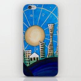 Blue Desert City iPhone Skin