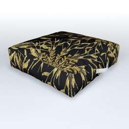 Black Gold Glam Nature Outdoor Floor Cushion