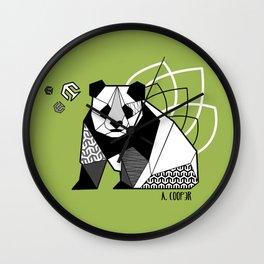 Panda geometric Wall Clock
