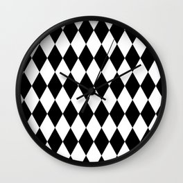 Jester Black and White Wall Clock