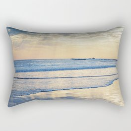 A Message From Above God Rays on Cayucos Beach Rectangular Pillow