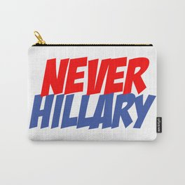 Never Hillary (White) Carry-All Pouch