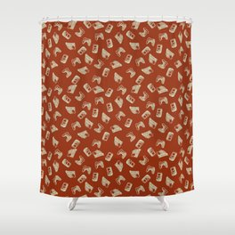 Arcade in Red Shower Curtain