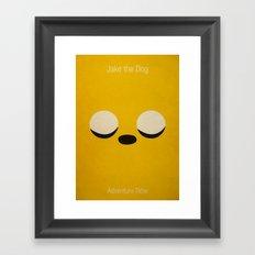Minimalist Adventure Time Jake Framed Art Print