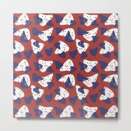 Flying chips Metal Print