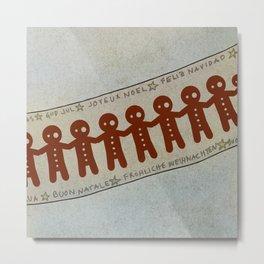 Gingerbread and Christmas Metal Print