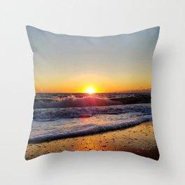 Off-Season Sunset Throw Pillow