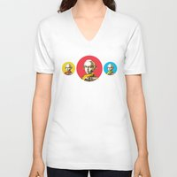 mozart V-neck T-shirts featuring Mozart Kugeln 4c by Marko Köppe