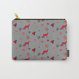 The Fox, the Squirrel & the nuts Carry-All Pouch
