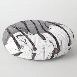 Mister Yeti's Great Escape Floor Pillow