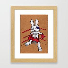 Boxer Bunny Framed Art Print