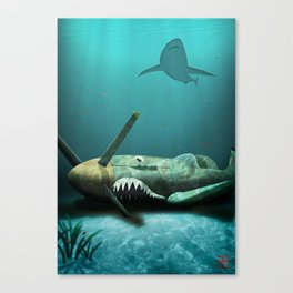 Two Sharks Canvas Print
