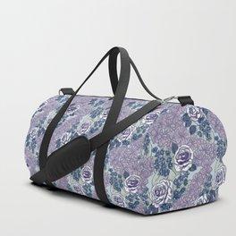 Chevron Floral Dark Duffle Bag