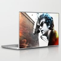 bob dylan Laptop & iPad Skins featuring Bob Dylan by Maioriz Home
