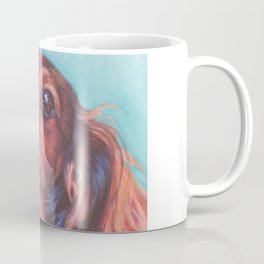 The long haired Dachshund from an original painting by L.A.Shepard Coffee Mug