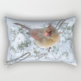 Drifting (Northern Cardinal) Rectangular Pillow