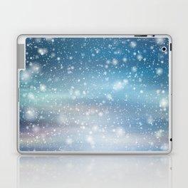 Snow Bokeh Blue Pattern Winter Snowing Abstract Laptop & iPad Skin