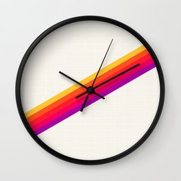 VHS Rainbow 80s Video Tape Wall Clock