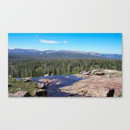 Uinta Mountain Water  Canvas Print